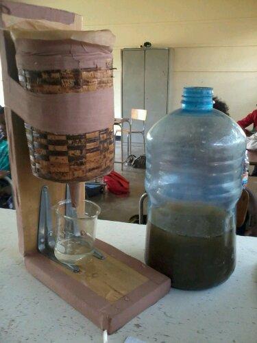 Et voilà le résultat : eau filtrée